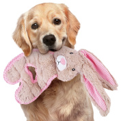 Stuffing Free Bunny Dog Toy with 9 Squeakers - Spring, Easter Pet Gifts