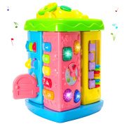 Christmas Gifts Baby Musical Toys Colourful Baby Fun House Kinds Of Music, - girls boys toddlers and baby toys-,Electronic Geometric Blocks Learning Educational Toys