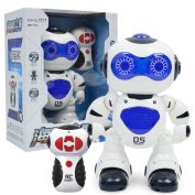 Littleice Electronic Walking Dancing Remote Control Space Robot Astronaut Kids Music Light Toys