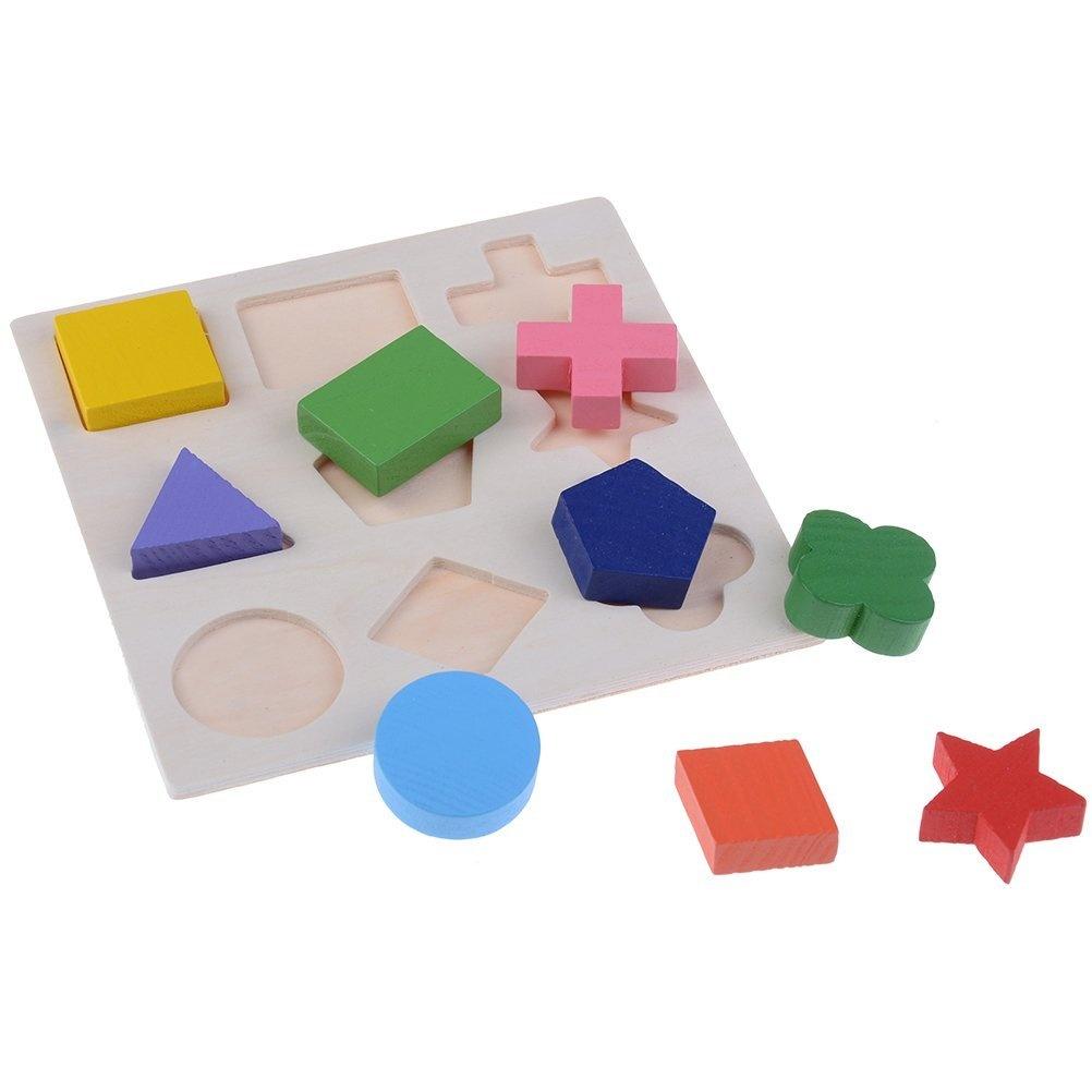 huichang Educational Puzzles Wooden Toys Tangram Jigsaw Board