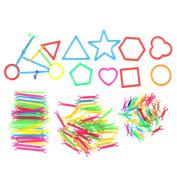 SNNplapla 120Pcs/Set Baby Plastic Intelligence Sticks Early Learning DIY Building Puzzle Block Toys