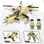 Army Toys for Boys, Military Aeroplane Toy, Helicopter and Transformers, Educational Building Kits, Christmas and New Year's Gifts for Kids