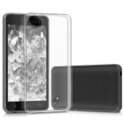 kwmobile Crystal Case Cover for Wiko Sunny 2 Plus made of TPU Silicone - transparent clear Protection Case in transparent