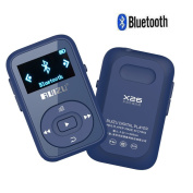 CFZC 8GB Sport Clip Bluetooth MP3 Player Lossless Stereo Sound Music Player with FM Support up to 64GB Drak Blue