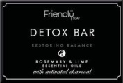 Natural Activated Charcoal Detox Bar 95g by Friendly Soap