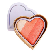 Weicici Heart-shaped Shimmer Highlighter & Eyeshadow & Blush 3 In 1 Makeup Powder Palette