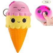 Jumbo Squishies Exquisite Fun Ice Cream Scented Squishy Slow Rising Simulation Kid Toy Charm Gift Stress Reliever for Children and Adult