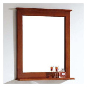 Dawn USA American Solid Wood and Plywood Frame Mirror with Shelf