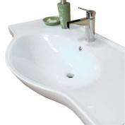 Bellaterra Home 40.5W x 20.1D in. Ceramic Integral Sink Vanity Top