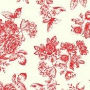 Cotton Fabric - Metre - Makower - Katie Jane - Toile Red