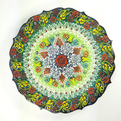 TURKISH MOROCCAN HANDMADE CERAMIC PAINTED PLATE 35cm - PLA107