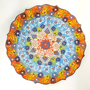 TURKISH MOROCCAN HANDMADE CERAMIC PAINTED PLATE 35cm - PLA106