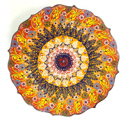 TURKISH MOROCCAN HANDMADE CERAMIC PAINTED PLATE 35cm - PLA103