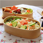 GuiXinWeiHeng Double wooden lunch box Japanese lunch box sushi box environmentally friendly portable lunch box