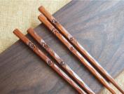 GuiXinWeiHeng 10Pure hand-carved flower chopsticks chopsticks upscale chopsticks
