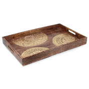 Art Deco Home - Wooden Tray 50 cm - 11699SG