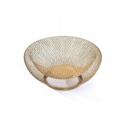 Wire Fruit Bowl , Baffect Hollow Steal Table Basket Fruit Rack (Coffee Gold)