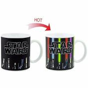 Star Mugs Lightsaber Heat Change Coffee Mug, 350ml Ceramic, Great Gift For Star Wars Fans, Birthday Gift For Men & Women, Best Office Cup & Christmas Present Idea