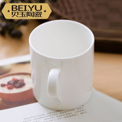 Sfhgt White Ceramic Mug Breakfast Cup Large Bone China Coffee Cup Drink Cup Of Large Capacity Yoghurt Cup Of Milk Cup