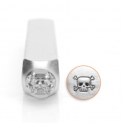 Skull & Crossbones Design Stamp, 6mm