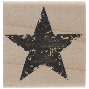 Tim Holtz Mounted Red Rubber Stamp 3.8cm x 3.8cm -Star Silhouette
