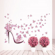 Stickers Wall Tacon and Butterflies for Children's Bedrooms zapaterias Shops of Footwear vestidores Salon Open Buy Hall