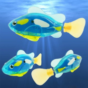 Toy Fish Best Bath Toys - Funny Swim Electronic Robofish Activated Battery Powered Robo Toy Fish Robotic Pet For Fishing Tank Decorating Fish- Swimming Fish