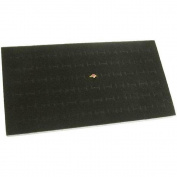 72 Slot Ring Jewellery Tray Foam Insert Display Pad Liner Black 36cm