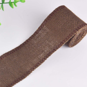 RainBabe Coffee Colour Faux Linen Wrapping Ribbons for Wedding Balloon Holiday Supplies 1M