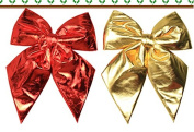2Pcs 25cm Christmas Bowknot Christmas Tree Topper Bow Ornaments for Home Holiday Bows Decoration Wreaths Deco Gift