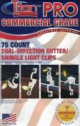 Titan PRO Commercial Grade Dual-Direction Gutter/ Shingle Light Clips 75ct