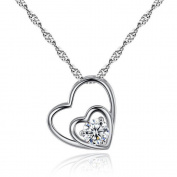 Valentine's Day Gift Heart Pendant Collarbone Decor Necklace Heart Shaped Jewellery Pendant