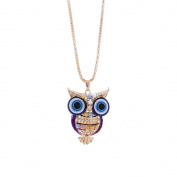 Adornment Necklace,Fashion Women Charm Starfish/Owl/Elephant Crystal Rhinestone Cute Pendant Sweater Necklace