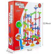 Minihorse Marble Run Set,Marble Run Coaster 105pcs with 75 Building Blocks Plus 30 Race Marbles Marble Race Game Marble Run Play Set For Kids 7-12 Years Old