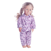 American Girl Doll Clothes,Showking Cute Pyjamas Nightgown Clothes For 46cm Our Generation American Girl Doll