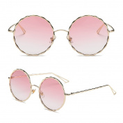Hukai Men Women Round Sunglasses Steampunk Shades Retro Eyewear Outdoor Sports Glasses