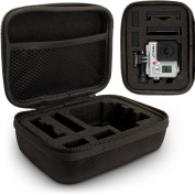 Optix Pro Small EVA Hard Travel Case Cover with Zip Closure & Removable Foam Inserts for GoPro Hero5, Hero4, Hero3+, Hero3, Hero2 & Hero1 Action Cameras