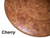 Table Cloth Round 90cm - 120cm Elastic Edge Fitted Vinyl Table Cover Cherry Wood Pattern Brown Tan