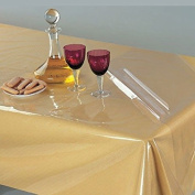"""Suitable and Durable 150cm x 230cm 100% Vinyl Waterproof Plastic Table Cover with """" Crystal Clear """" PVC Tablecloth Protector - By Home Covers"""