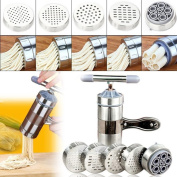 Hand-cranked press noodle machine - Stainless Steel Pasta Noodle Maker Fruit Juicer Press Spaghetti Kitchen Machine