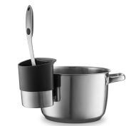 Spoon rest Stainless Steel Spoon Dock for Utensils - This Cup Hangs on Saucepans and Pots for Preparing and Serving Food Without Creating a Mess - Use as a Measuring Cup, Mix, & Pouring …