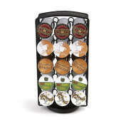 Mind Reader K-Cup Carousel, Holds 30 K-Cups, Coffee Pod Holders, Black Metal Mesh