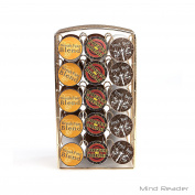 Mind Reader K-Cup Carousel, Holds 30 K-Cups, Coffee Pod Holders, Gold