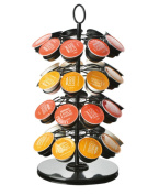 HOMEE Nespresso Capsule Holder Coffee Capsule Rack Holder K-Cup Storage 360-Degree Rotation With 36 Pod Capacity