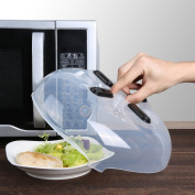 """Magnetic Microwave Cover, Kinbom Anti-splatter Hover Cover Plate Cover With Steam Vent For Food Guard And Microwave Clean, 11.5"""""""