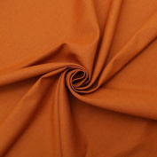Orange Linen Natural Weave Textured Sofa Cushion Upholstery Fabric