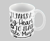 Hiros®Teachers Gift Themed It takes a big heart to help shape little minds 330ml gift Mug , Gift For Teacher, Gift for Sir, Birthday Gift , Christmas Gift , Class Teacher Gift , Ceramic Gift Mug.