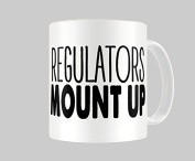Hiros®Regulators Mount up 330ml gift Mug For Anyone , Birthday Gift , Christmas Gift , Gift For Child , Back to school , Office colleague , Ceramic Gift Mug.