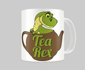 Hiros®Tea Rex Themed Green Baby Dinosaur in cattle 330ml gift Mug , Gift For Child , Gift for Anyone , Birthday Gift , Christmas Gift , Office colleague , Ceramic Gift Mug.