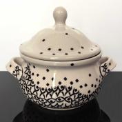 Hand-Decorated Polish Pottery Cup & Honey Pot/Jam 0.45 L 1185